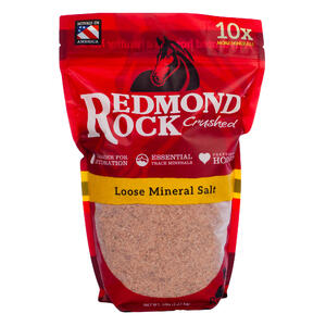 Redmond Rock Crushed contains 60+ equine electrolytes and trace minerals for horses.