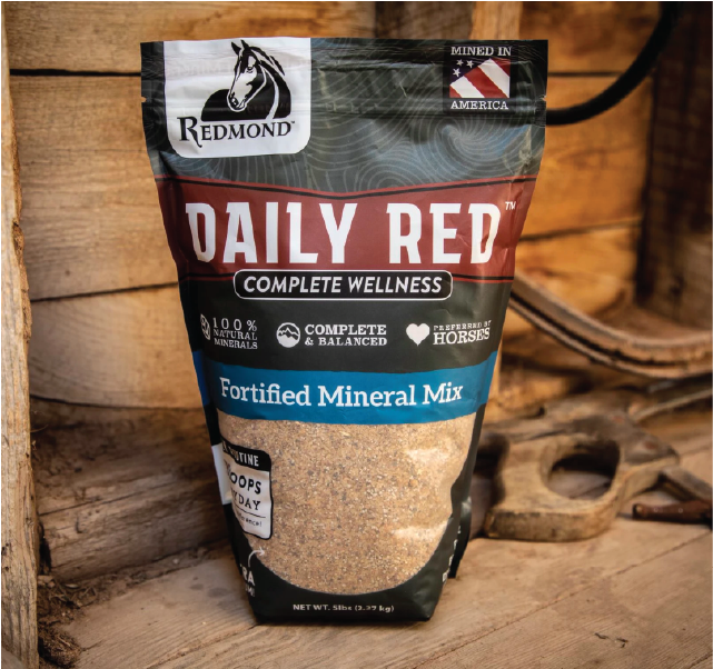 Daily Red provides a full amount of all trace minerals and electrolytes horses need.