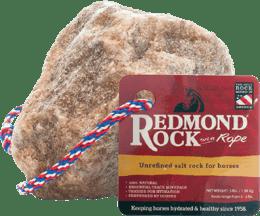 Redmond Rock has 60+ natural trace minerals for horses.