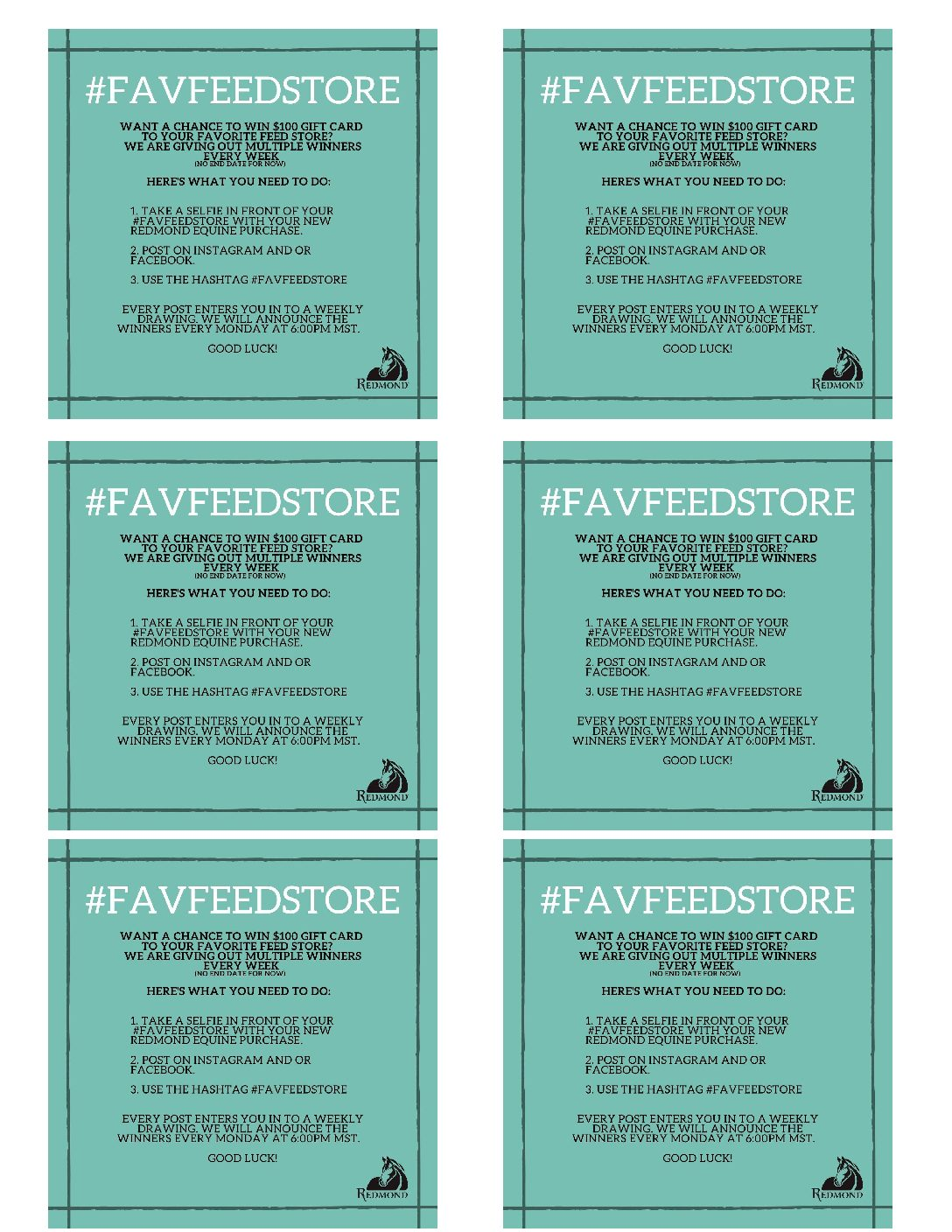 Favorite Feed Store Flyer