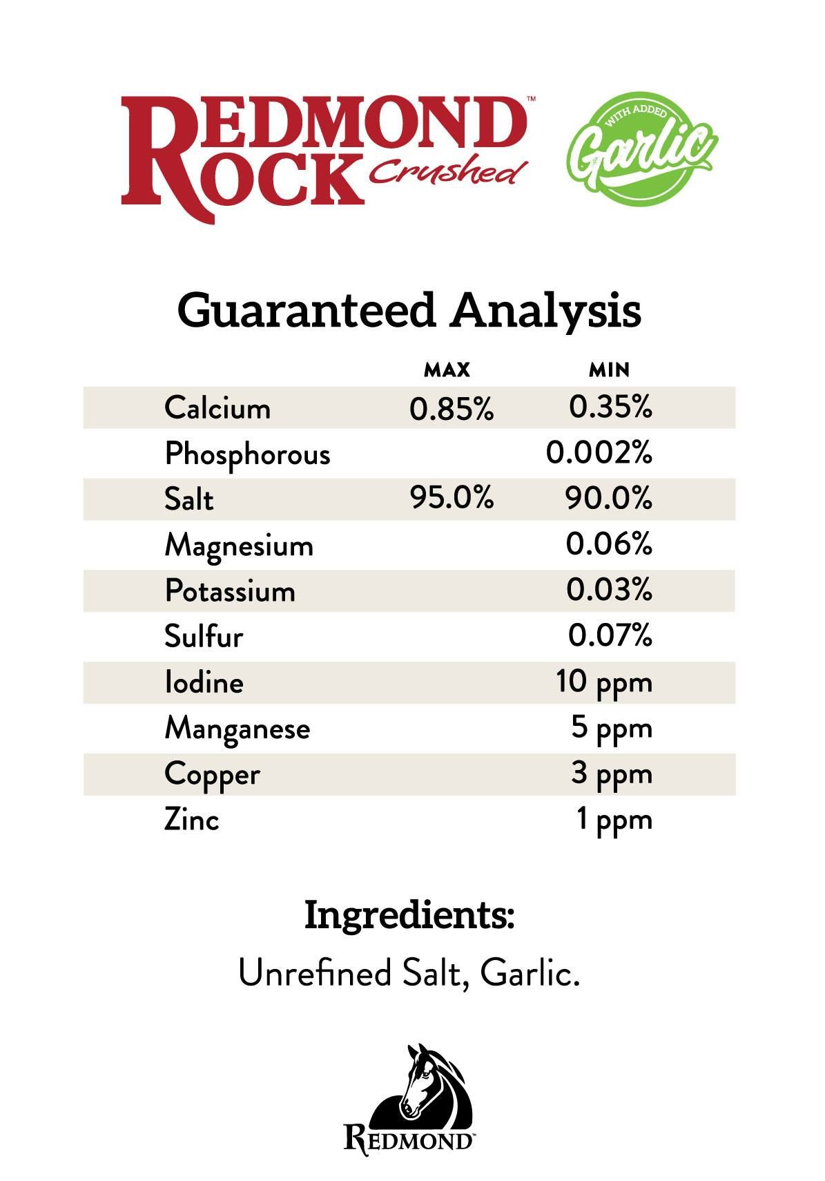Redmond Rock Crushed Garlic